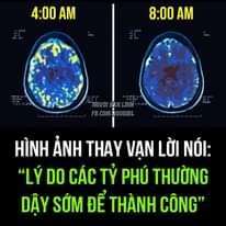 """Có thể là hình ảnh về văn bản cho biết '4:00 AM 8:00 AM FB.COM/NGUOIBL FB.COM/N HÌNH ẢNH THAY VẠN LỜI NÓI: """"LÝ DO CÁC Tỷ PHÚ THƯỜNG DẬY SỚM ĐỂ THÀNH CÔNG""""'"""